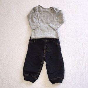 Carter's Denim Jogger Pants Set 6 Months